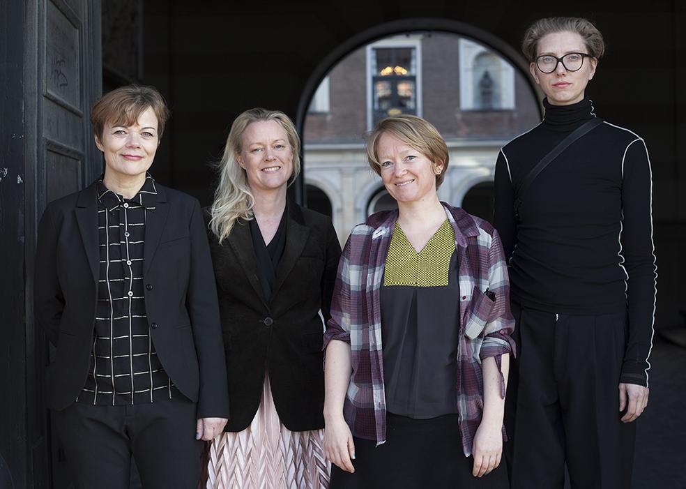 De fire legatmodtagere: Anne Marie Ploug, Ursula Nistrup og Kunstnerduoen Vinyl – Terror & Horror ved Camilla Sørensen og Greta Christensen