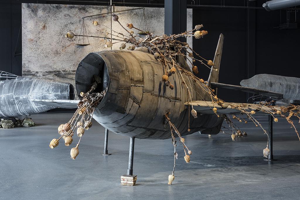 Anselm Kiefer. For Louis-Ferdinand Céline: Voyageau bout de la nuit. Installation shot, CopenhagenContemporary 2016. Photo: Anders Sune Berg