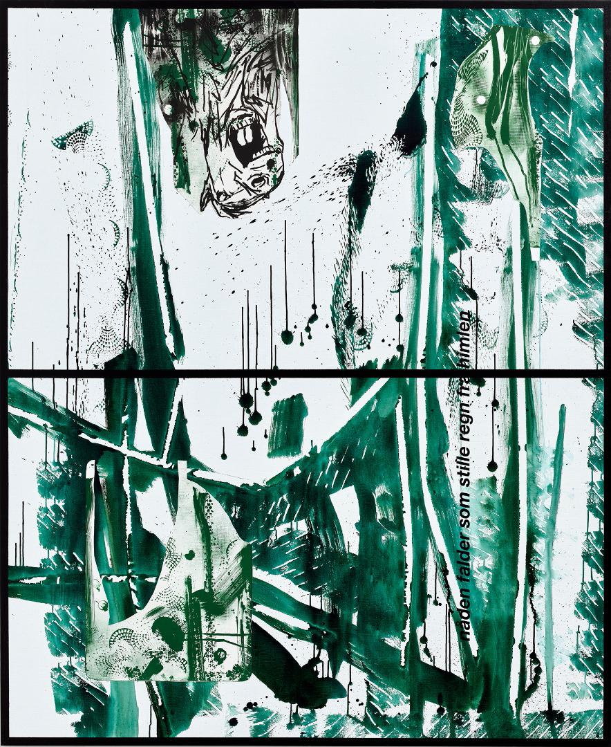 Galleri Tom Christoffersen åbnede med udstillingen 'Sieh da! Sieh da, Timotheus, die Kraniche des Ibykus!' af Claus Carstensen.